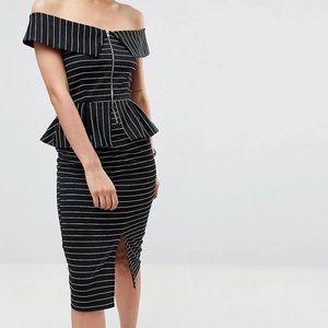 ASOS Black & White Dress (New)